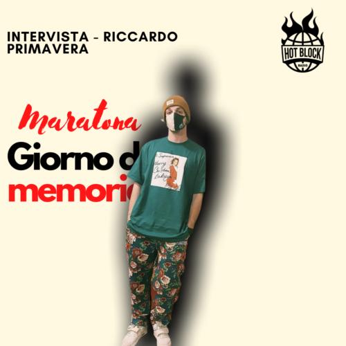 Intervista Riccardo Primavera – SPECIALE: MARATONA GIORNATA DELLA MEMORIA 27.01.21